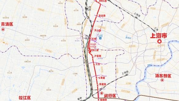 市域线嘉闵线工程可行性研究报告获批,全长44公里,将采用最高时速160公里动车组列车