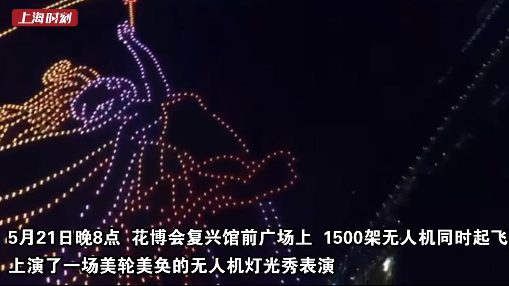 视频 | 1500架同时起飞!花博会上演无人机灯光秀