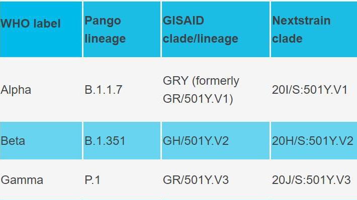 世卫组织使用希腊字母命名新冠病毒变异株
