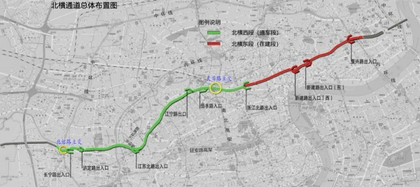 北横通道西段将于近期通车,配套交通组织如下
