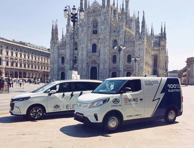 上汽大通MAXUS两款重磅新能源车型出征意大利