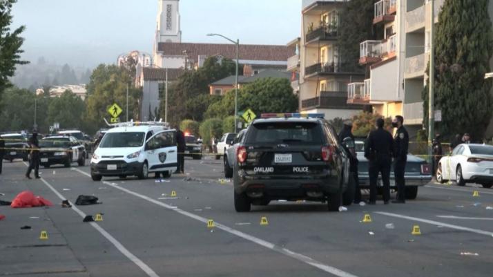 美国加州奥克兰市发生枪击事件 致1死5伤