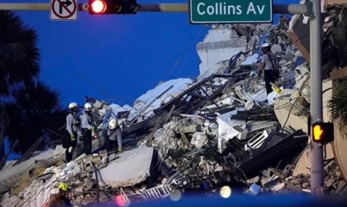 美国大楼坍塌仍有近百人失联!事故或已有前兆,救援结束后将展开调查