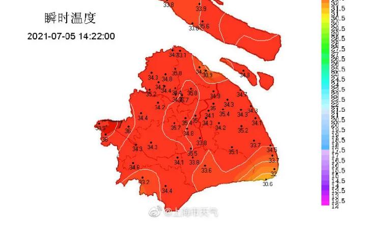 刚刚!上海今年首个高温黄色预警来了!明后天直冲36度!