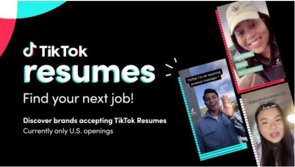 视频简历显神通  TikTok新功能帮助年轻人找工作