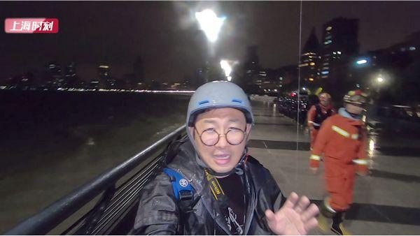 """视频   """"风雨潮""""三碰头!凌晨2点黄浦江迎5.5米大潮,申城防汛,稳!"""