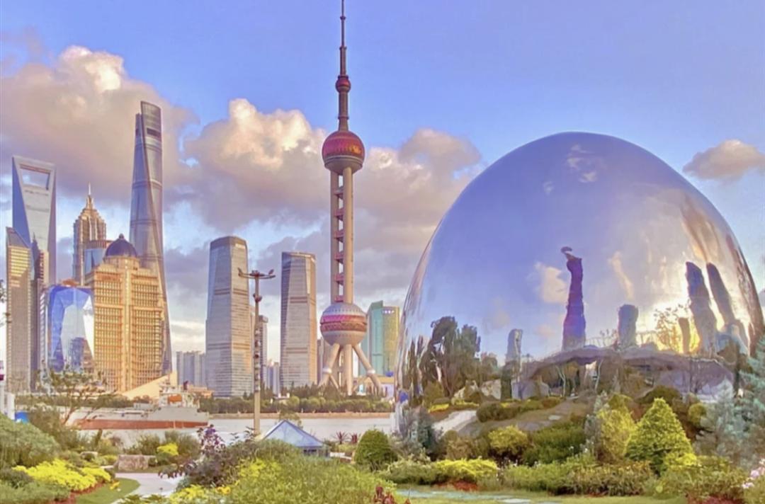 上海北外滩惊现超大银色水滴!超科幻超好拍!时髦星人已经去打卡了!