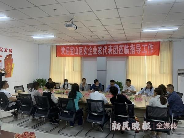 宝山区女企业家代表团到叶城县调研考察