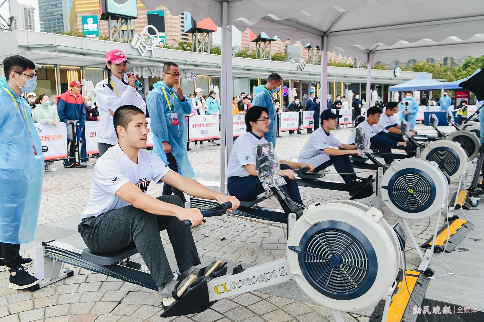 市民百姓齐参与 划船器公开赛凸显城市运动氛围