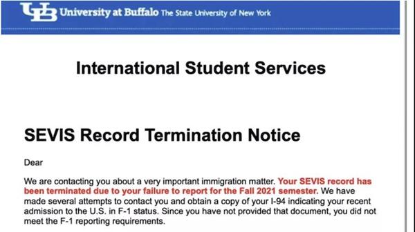 超30名留美学生签证被取消 我驻纽约总领馆已介入协调