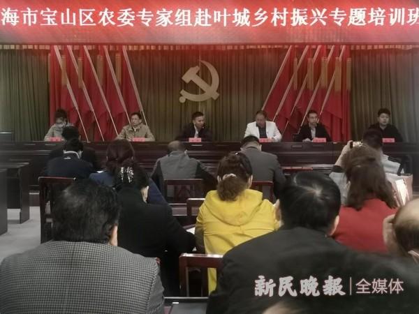 宝山区农委专家代表团到叶城县开展乡村振兴专题培训